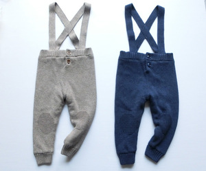 new baby boy clothes  fashion winter overalls children cotton knitted thickened velvet suspender pants kids child clothing