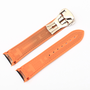 Image 5 - 20m 22mm Nylon Rubber Silicone Watch Band for Omega Watch Strap Seamaster Planet Ocean 8900 9900 Orange Black Blue Bracelets