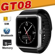 Gt08 Смарт-часы 32 г TF SIM Bluetooth телефон SmartWatch сна Мониторы удаленного Камера музыкальная группа для IOS Android браслет v8 A1 Y1