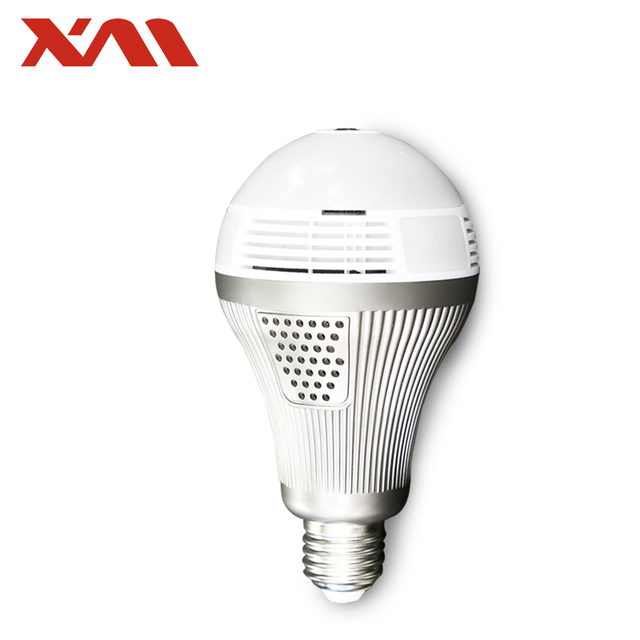 XM 5MP 360 VR HD IP Camera Smart LED Bulb Fake Security Camera Whitelight Night Vision Bulb Home Baby Monitor