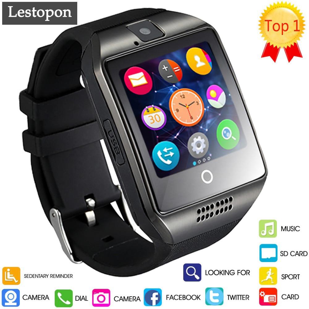 imágenes para Lestopon 2017 Nuevo reloj Inteligente Smartwatch Pulsera Teléfono android teléfono Bluetooth banda de Fitness Deportivo Wearable Dispositivos DZO9 GT08