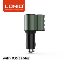 LDNIO 3.1A 5V 3 USB Car Charger 3+1 Design Fast Charge Universal Phone Car-Charger For Xiaomi Samsung S8 Iphone X 8 Plus Tablet