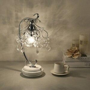Image 5 - Artpad lüks kristal masa lambaları yatak odası için Modern düğün dekorasyon LED dim masa lambası başucu oturma odası aydınlatma