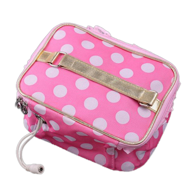 Wholesale 10pcs* USB Pink Lunchbox Bento Box Warmer Heater Bag White dot