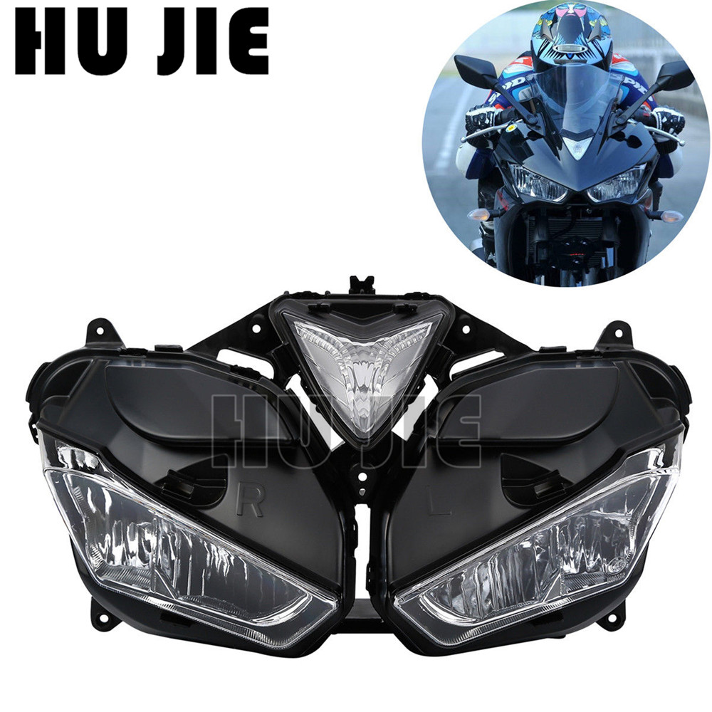 Motorcycle Front <font><b>Headlight</b></font> Head Light Lamp Assembly For Yamaha YZF R3 <font><b>R25</b></font> YZF-R3 YZF-<font><b>R25</b></font> 2013-2016 14 15 image