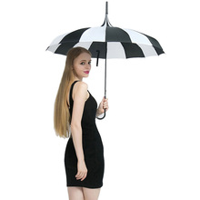 Hot Sale Brand Rain Umbrella Men Quality 16K Strong Windproof Tower Pagoda  Long Handle Womens Parapluie