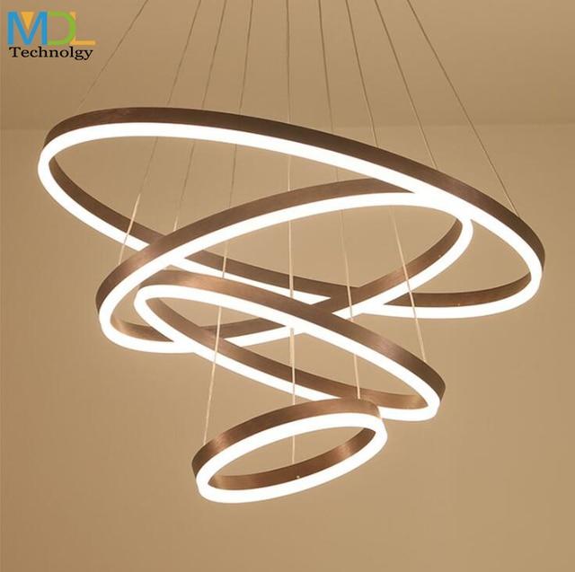 Modern Art LED Restaurant Chandeliers Ceiling Mounted engineer Nordic Lamps Atmosphere Round Pendant light Bedroom Fixtures