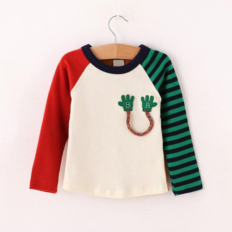 Clearance discount kids boyst shirt cotton patchwork long for Wholesale children s t shirts