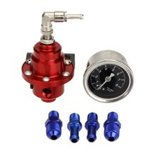Высокая Производительность автомобильный датчик давления топлива Регулируемый регулятор давления топлива красный