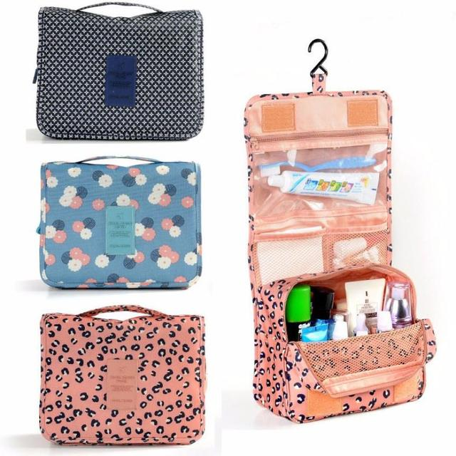 Kit de tocador colgante de bolsillo bolsa de viaje transparente estuche de almacenamiento de cosméticos 3,20