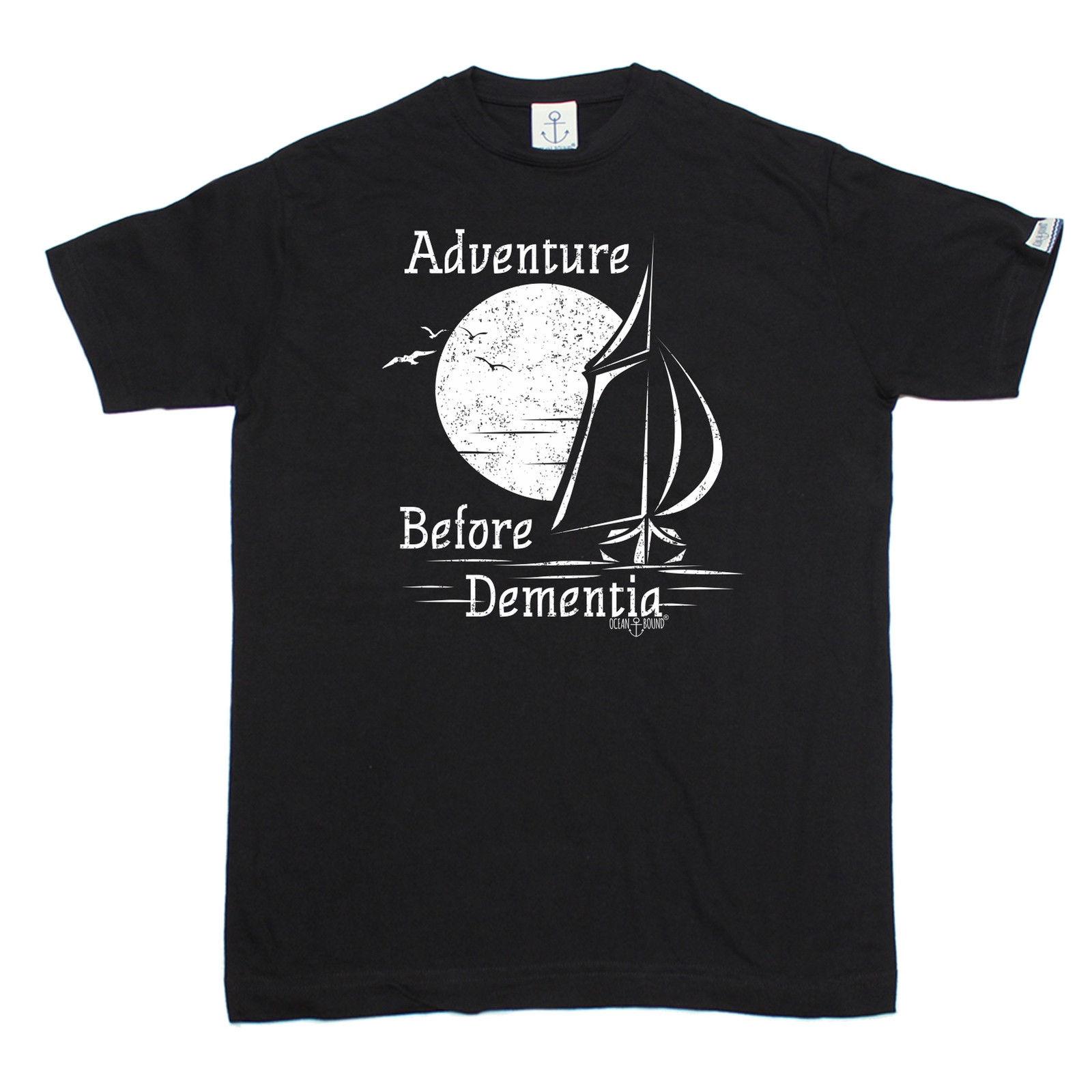 Приключения перед de Для мужчин tia Зайлер футболка яхта парус Ти Забавный подарок на день рождения Для мужчин футболка отличное качество Заб...