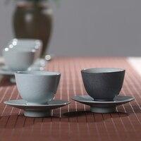PINNY 70 мл винтажная керамическая чайная чашка и блюдце китайские чайные наборы кунг-фу чашка ручной работы аксессуары для чая чайные чашки це...