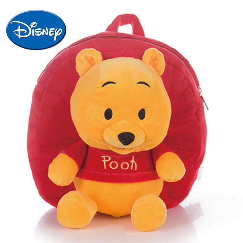 9be3f606ea2 Disney Children Cartoon Schoolbag Backpack for Kids Winnie The Pooh Lilo  Piglet Plush Safe PP Cotton Stuffed Toys mochila disney-in Plush Backpacks  from ...