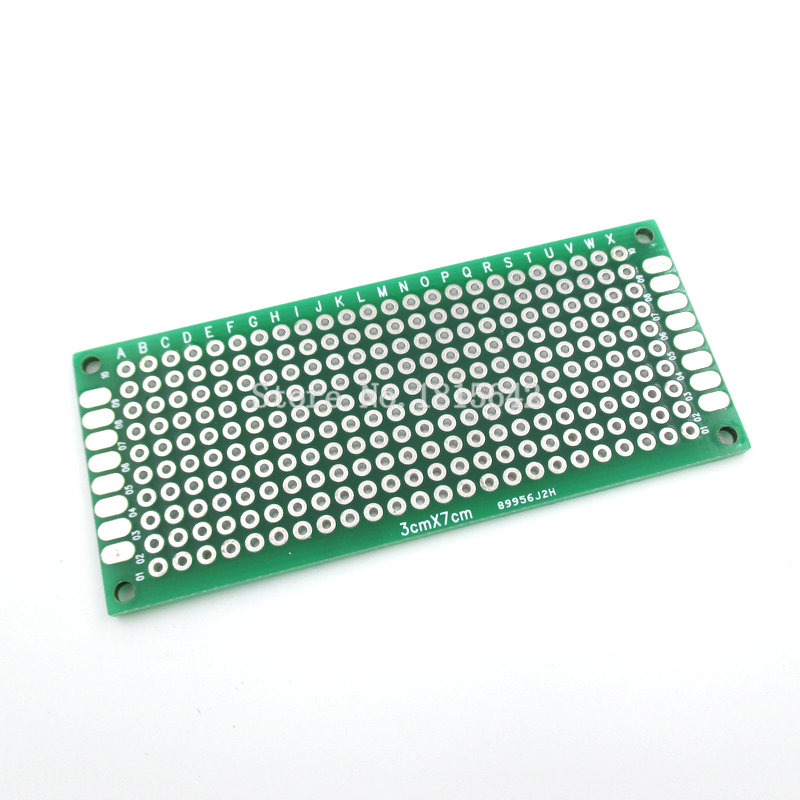 5PCS/LOT 3X7cm 3*7cm Double Side Prototype Pcb Breadboard Universal For Arduino 1.6mm2.54mm Practice DIY Electronic Kit Tinned