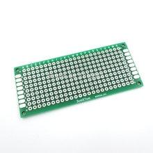 5 шт./лот 3×7 см 3*7 см double side Прототип PCB Макет универсальный для Arduino 1.6mm2.54mm практика DIY Электронные комплект луженая