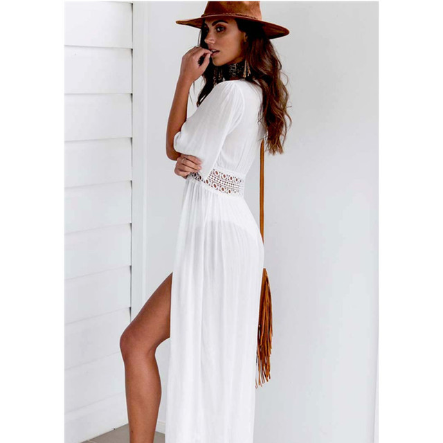 Swimwear Bikini Chiffon Cover up Beach Cardigan Dress
