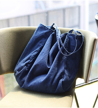 Denim Big Capcity Tote Bag Women Fashion Classical Handbag Female Fabric Casual Leisure Beach Summer Oversize Top-handle Purse 5