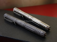 Titanium TC4 EDC 138mm Long Tactical Self Defense Gel Roller Pen High Quality Glossy Matte Surface