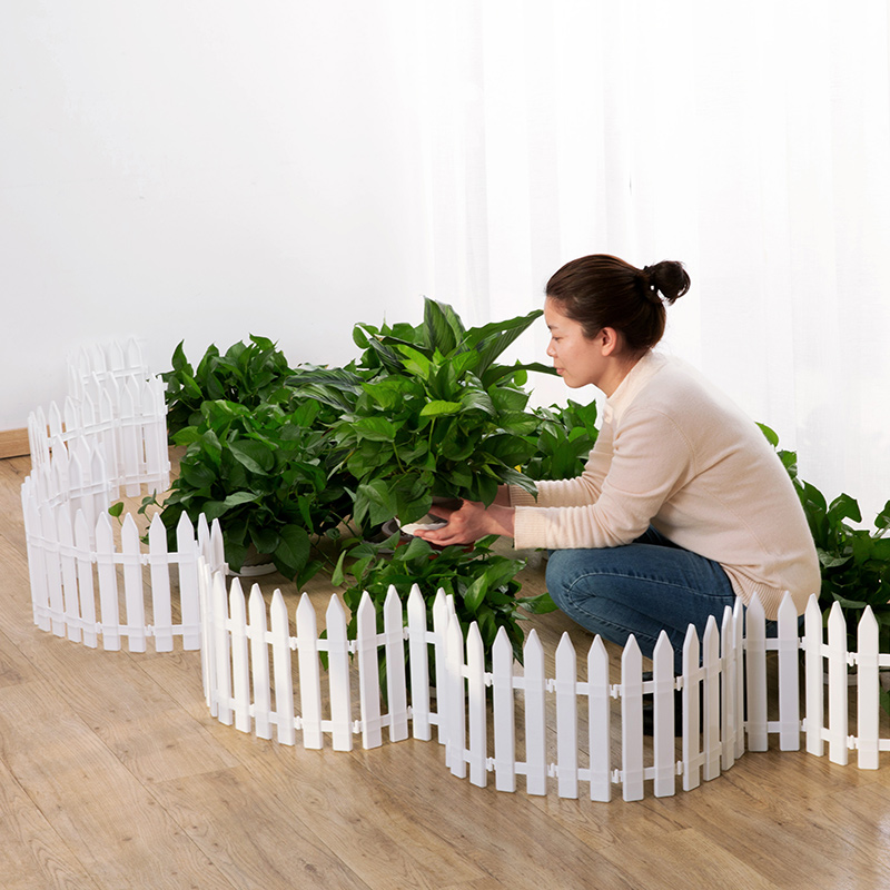 50x29cm/pack Plastic Fence Courtyard Indoor Garden Fence Kindergarten Flower Garden Vegetable Small Fence Christmas Decoration