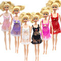 3pcs Pajamas Gown Underwear Lingerie Bra Lace Dress Clothes for Barbie Dolls Christmas Kids Gift