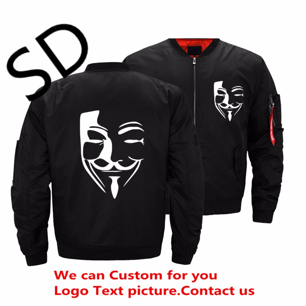 Hombre Veste Manteaux Black Dropshipping blue Hommes green Hip Hop Anonyme Vestes Masculino Harajuku Casaco Taille Pirate Usa Bomber Masque mwPnv8OyN0