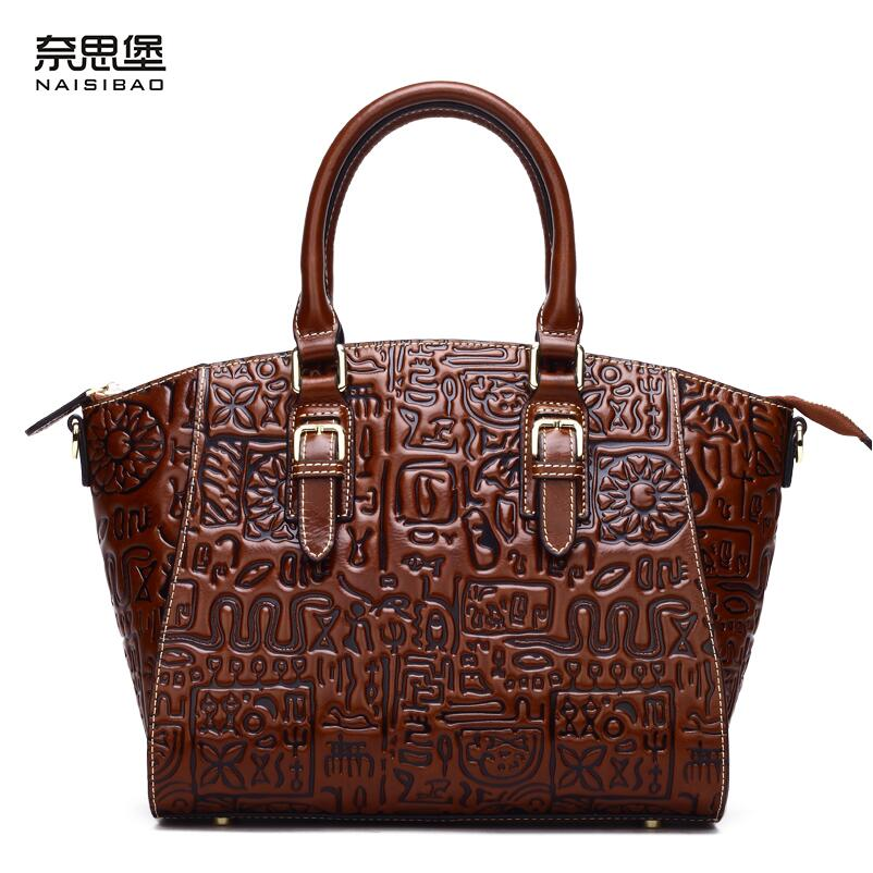 2017 New genuine leather women bag brands level cowhide originality embossing fashion women handbags shoulder messenger bag 2017 new women bag genuine leather brands quality fashion cowhide embossing women clutch bag leather shoulder messenger bag