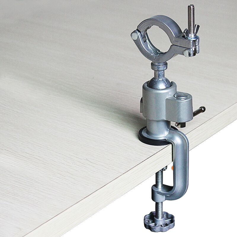 360 Degrees Aluminum Alloy Bench Vise Multi Function Electric Grinder Holder Electric Drill Fixed Stents Mini