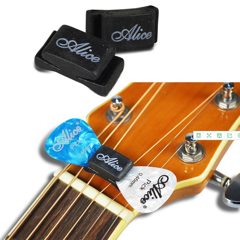 1 pc black rubber guitar pick holder fix on headstock for guitar bass ukulele alice guitar picks. Black Bedroom Furniture Sets. Home Design Ideas