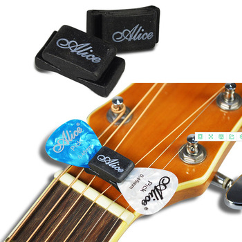 1 PC Black Rubber Guitar Pick Holder Fix on Headstock for Guitar Bass Ukulele Alice Guitar Picks Holder Guitar Parts Accessory portable pu leather guitar pick cases key chain style guitar picks plectrums bag holder guitar accessories