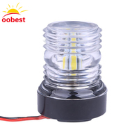Oobest Dustproof Waterproof Super Bright Marine Boat Yacht Stern Anchor LED Navigation Lights 360 All Round
