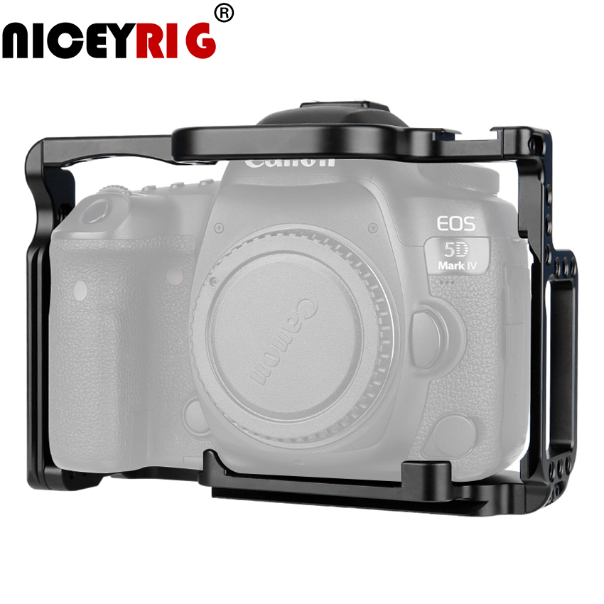 NICEYRIG Camera Cage For Canon EOS 5D Mark II III IV DSLR Camera Case For Canon 5Ds 5D Mark IV III II Eos 5D4 5d3 5d2 Camera Rig