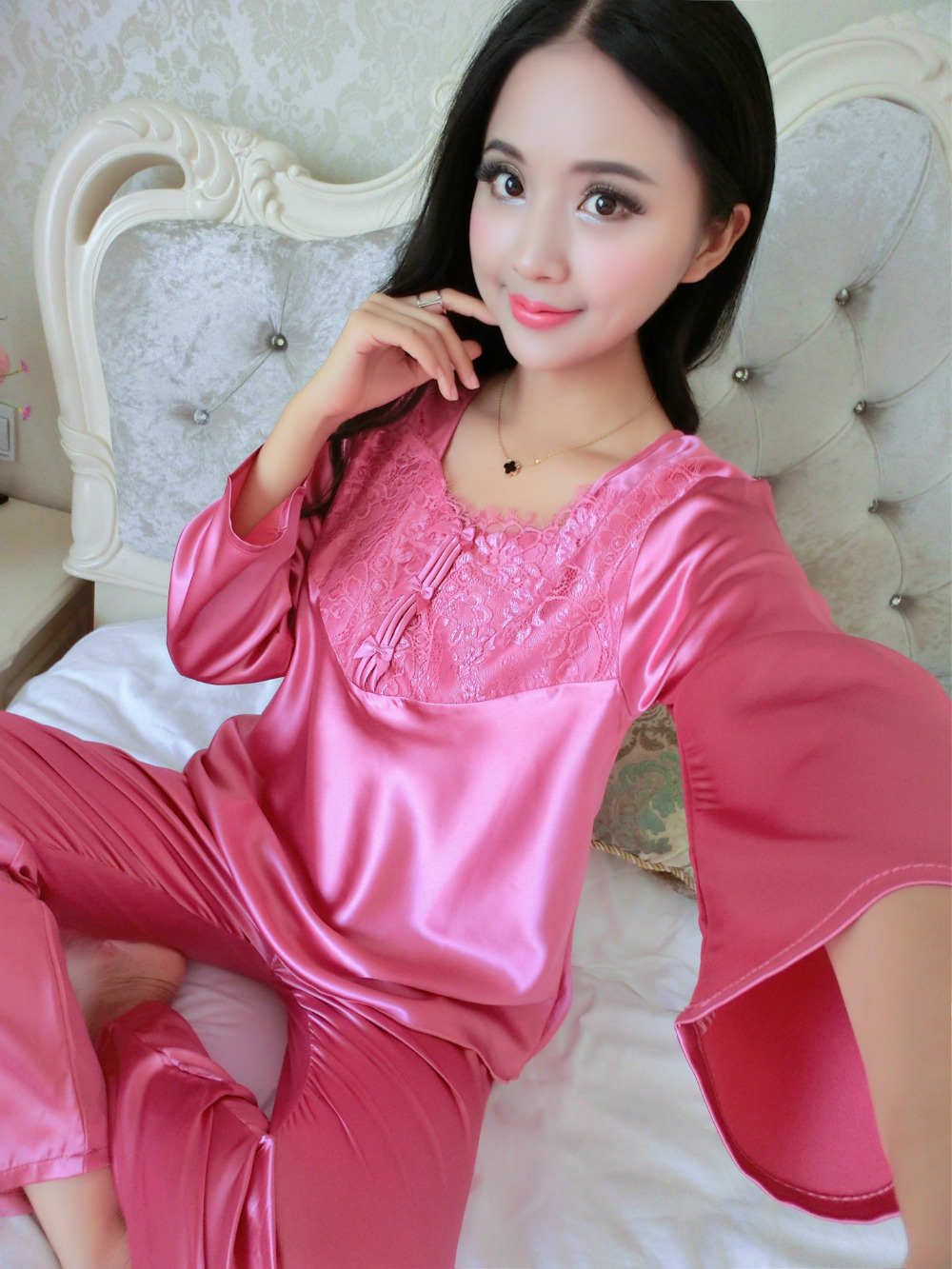 Online Get Cheap Lined Silk Pajamas -Aliexpress.com | Alibaba Group