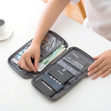 New Passport Travel Wallet Passport Holder Multi-Function Credit Card Package ID Document Multi-Card Storage Pack Clutch (China)