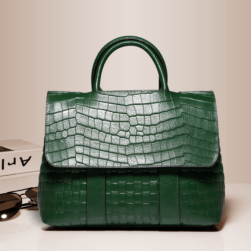Hight Quality Women Stone Decorative Pattern Handbags Genuine Leather Solid Color Lady Totes Female Luxury Business Bags F268Hight Quality Women Stone Decorative Pattern Handbags Genuine Leather Solid Color Lady Totes Female Luxury Business Bags F268