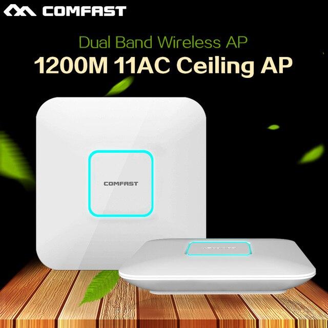 4 шт. 1200 Мбит dual band крытый 2.4 + 5.8 ГГц AP Беспроводной мост wifi точка доступа ретранслятор wi-fi антенна COMFAST маршрутизатор amplifer