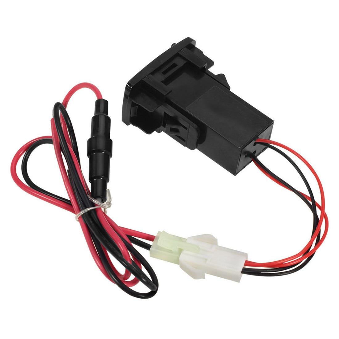 Новый Автомобиль 2.1A Dual USB Порт Зарядное Устройство Смартфон + Аудио Вход Для Honda