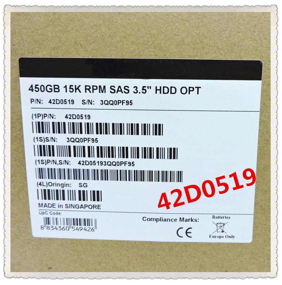 42D0519 42D0520 46M7030 450G 15K 3 5inch sas Ensure New in original box Promised to send