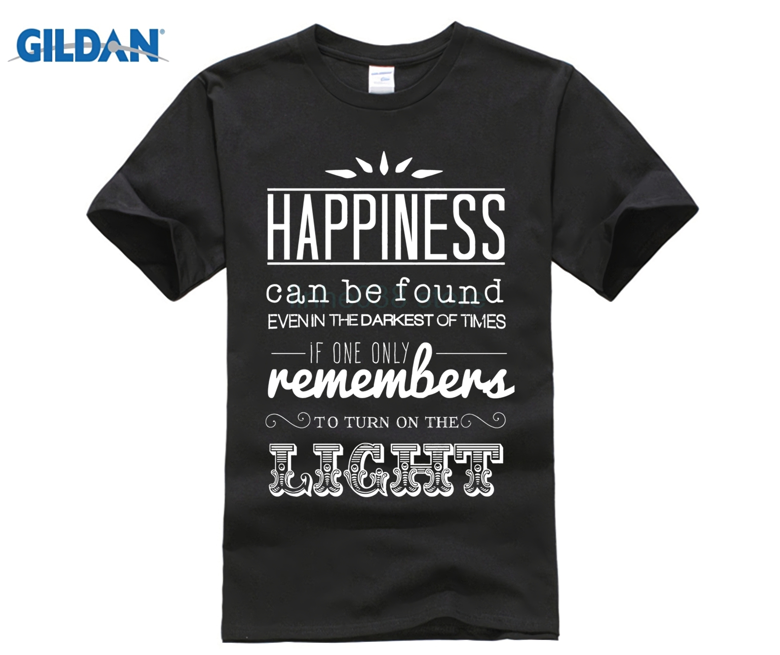 Latest Fun T-shirt Top Casual Wear harry tee Happiness can be found... Dumbledore Quote, harry never give up potter T-Shirt