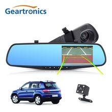 Full HD 1080 P Macchina Fotografica Dell'automobile Dvr Auto 4.3 Pollice Specchietto Retrovisore Digital Video Recorder Dual Lens Registratory Videocamera