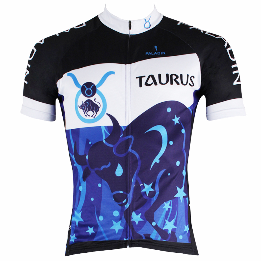 Persistence Taurus Constellation Men top Sleeve Cycling Jersey Blue Bike Clothes Shirts hot Anti-Sweat Cycling Clothes ILPALADIN 2016 new men s cycling jerseys top sleeve blue and white waves bicycle shirt white bike top breathable cycling top ilpaladin