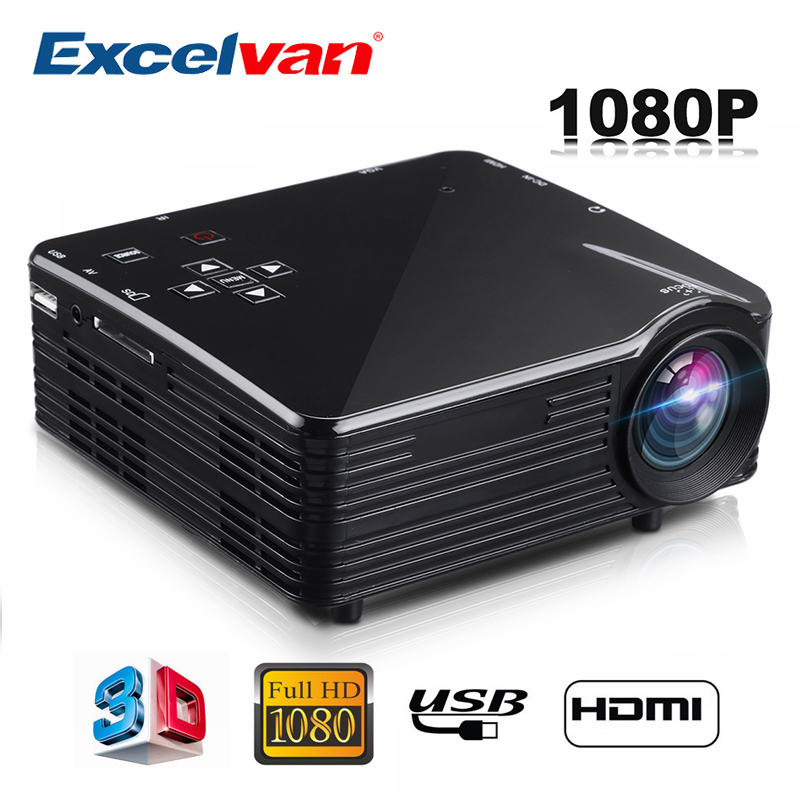 цены Excelvan LED1018 Mini Portable LCD Projector HDMI USB VGA AV SD Multimedia Interfaces Max 1080P Movie Home Cinema PK YG300 YG310
