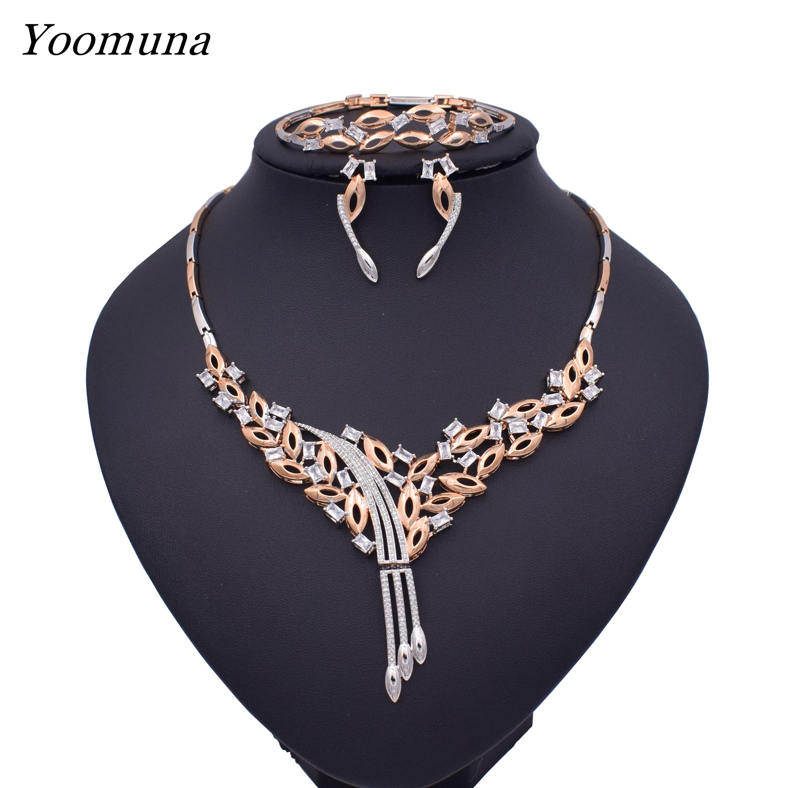 Mode africain Dubai or bijoux nigérian collier cerceau boucles d'oreilles femmes élégant fête cadeau mode bijoux ensembles