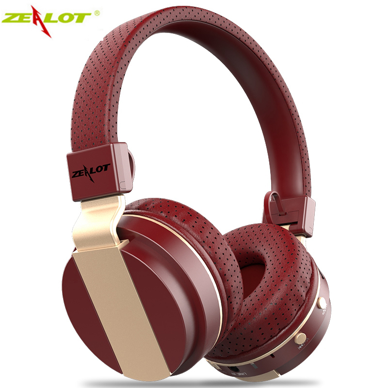 Original Zealot  B17 Wireless Bluetooth Headset Earphone Stereo Music Headphone Support TF SD Card/FM Radio for a mobile phones economic set original nia 8809s 8 gb micro sd card a set wireless headphone sport for tv with fm