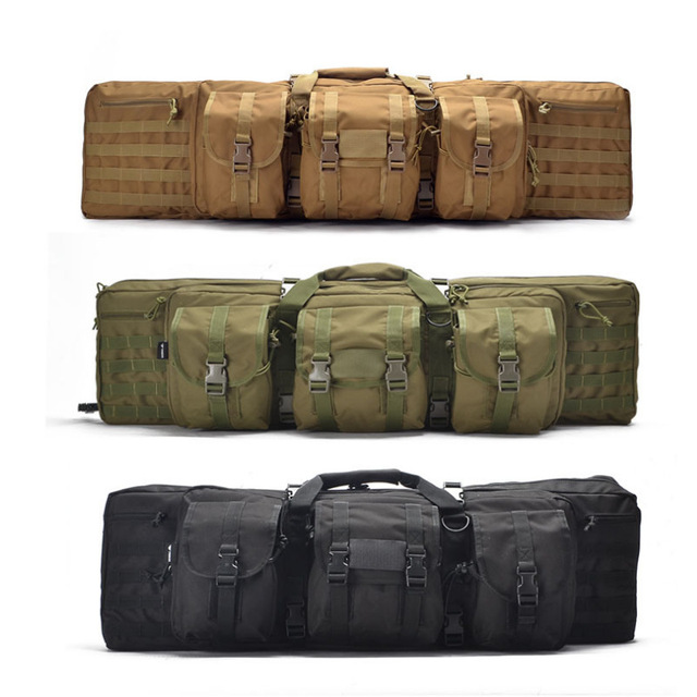 Large Capacity Tactical Rifle Case Heavy Duty Multi-Pocket Rifle Gun Bag For Hunting Airsoft Paintball Fishing