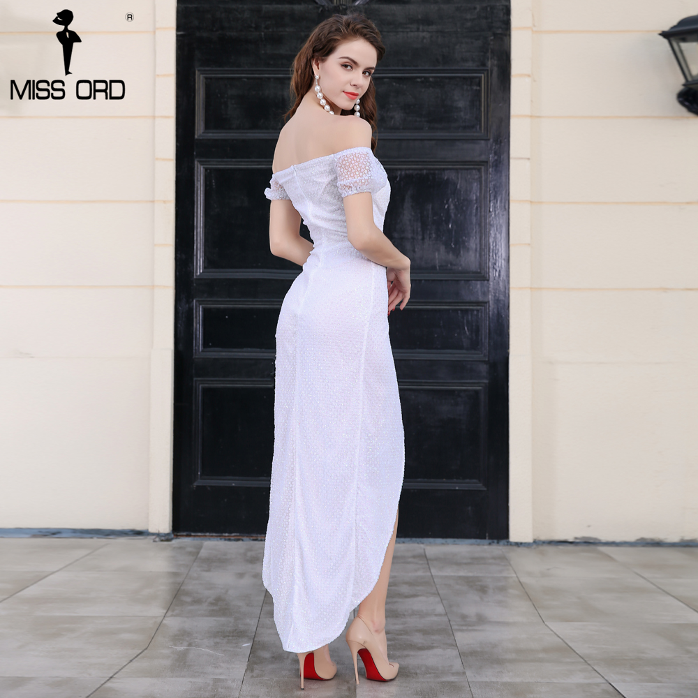 eb09313aba Missord 2018 Sexy slash neck off the shoulder high split glitter maxi dress  FT8263-in Dresses from Women's Clothing & Accessories on Aliexpress.com    ...