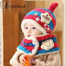 Doitbest 1 a 4 anni di età Corea Strisce stella a cinque punte per bambini  ragazzi di pelliccia Lavorato A Maglia cappelli di in. b57b4a9bca28