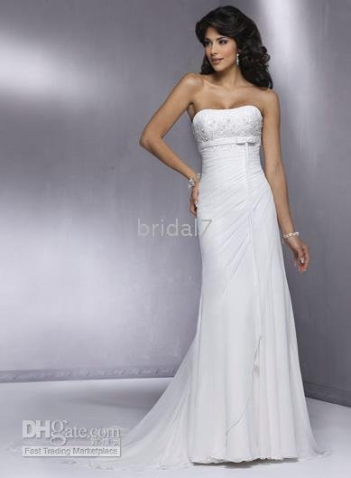 87ada806050dd Dress Bridal Dress HS917 Sexy Custom-made Strapless Slim Line Chiffon  Wedding