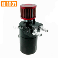 Brand New Auto Car Racing Engine Baffled Oil Catch Can Tank Blue With Breather Filter Aluminum
