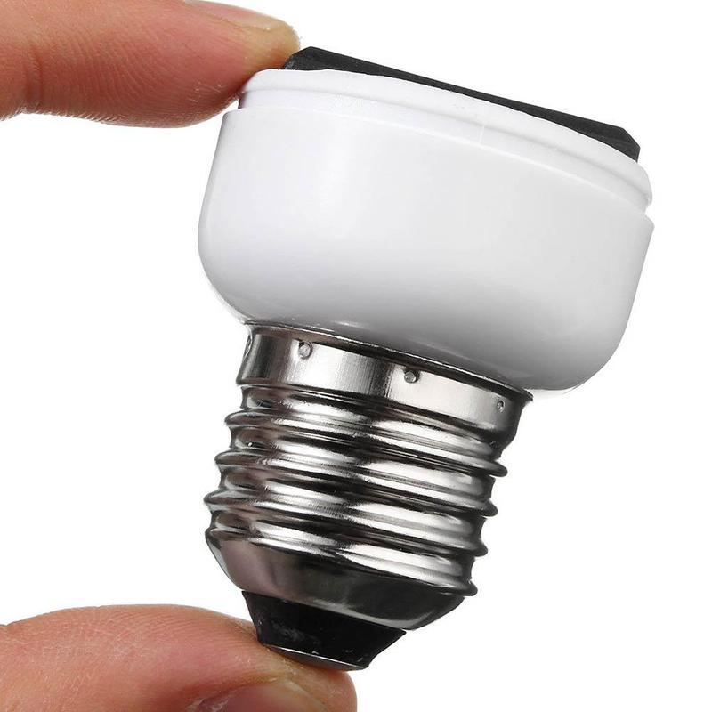 E27 Lamp Light Socket Holder Screw Bulb Convert To US EU Power Female Outlet White Light Sockets