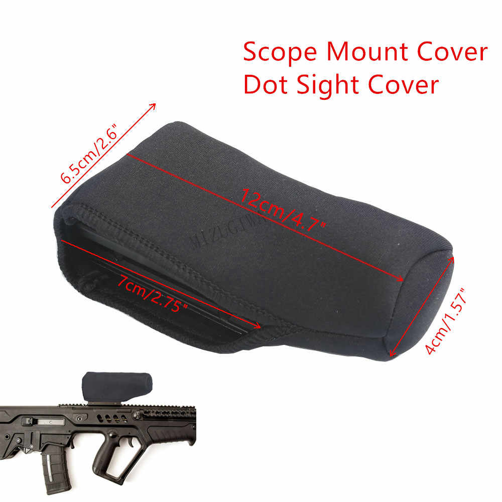 "Scope Cover Dot Sight Cover Bescherm Neopreen Scope Cover Beschermende Jacket Black 4.7 ""X 2.6"" Tactical Hunting Rifle gevallen"